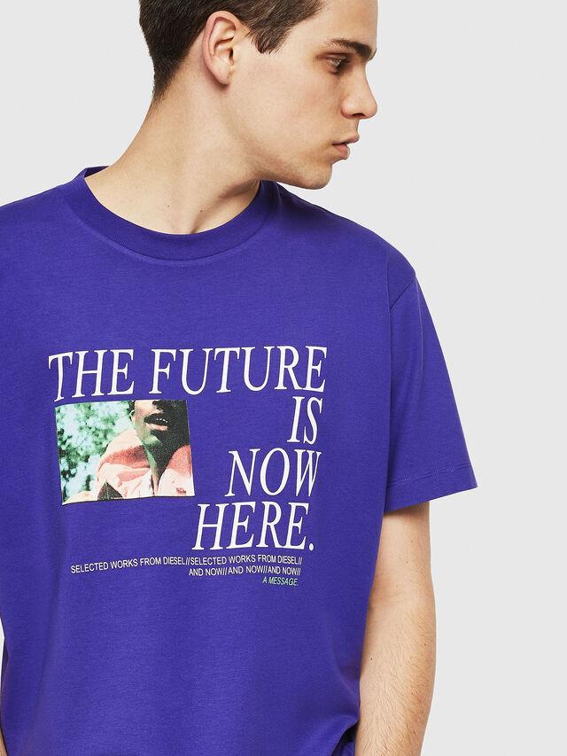Diesel - T-WALLACE-Y5, Violeta Oscuro - Camisetas - Image 3
