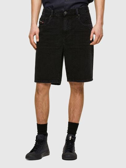 Diesel - D-STRUKT-SHORT, Negro/Gris oscuro - Shorts - Image 1