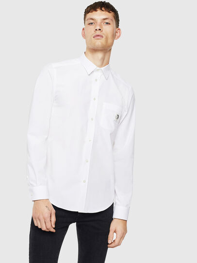 Diesel - S-BILL-POCKET, Blanco - Camisas - Image 1