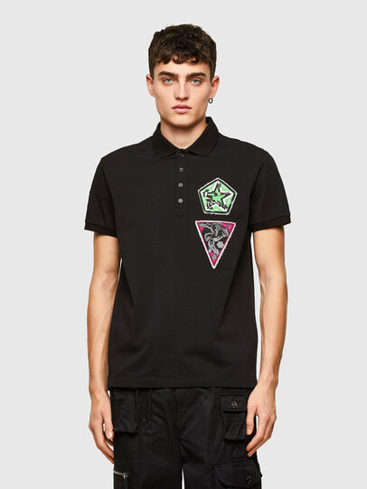Diesel - T-WEET-E2, Negro - Polos - Image 1