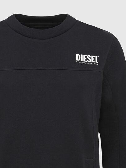 Diesel - UFLT-VICTORIAL, Negro - Sudaderas - Image 3