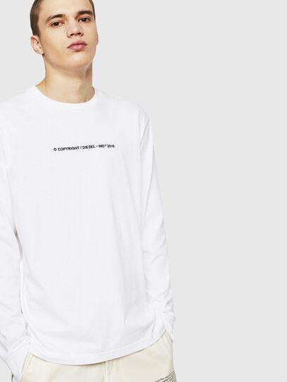Diesel - T-JUST-LS-COPY, Blanco - Camisetas - Image 4
