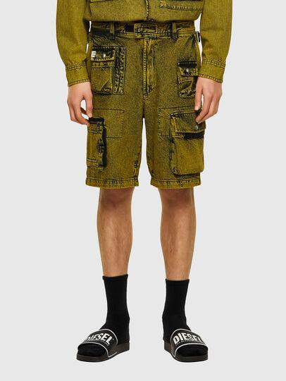 Diesel - D-CYAN-S-SP, Verde - Shorts - Image 1