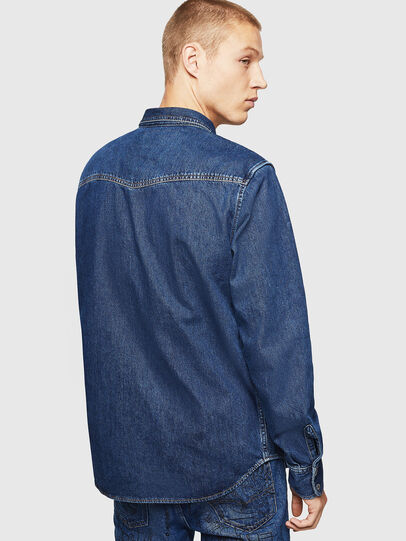 Diesel - D-EAST-P, Azul medio - Camisas de Denim - Image 2