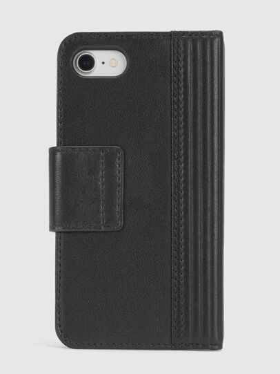 Diesel - BLACK LINED LEATHER IPHONE 8/7 FOLIO,  - Fundas tipo libro - Image 4