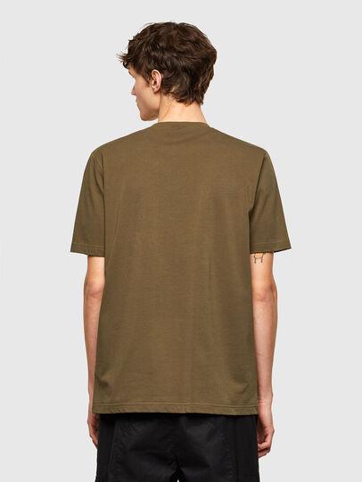Diesel - T-JUSTEMB, Verde Militar - Camisetas - Image 2