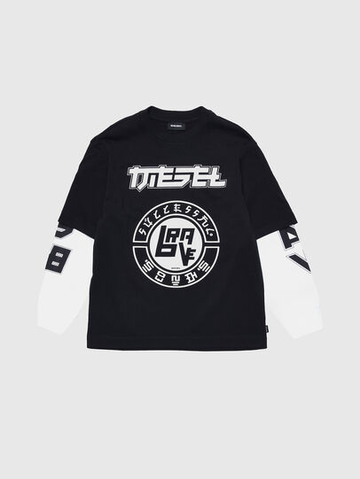 Diesel - TSOUND OVER, Negro/Blanco - Camisetas y Tops - Image 1