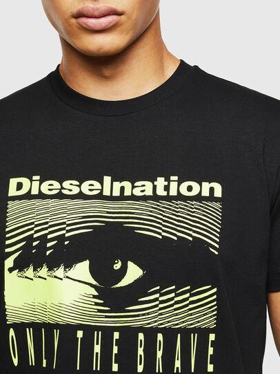 Diesel - T-DIEGO-J4, Negro - Camisetas - Image 5