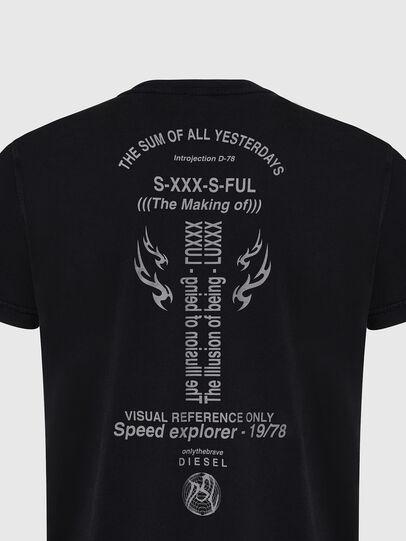 Diesel - T-DIEBIND, Negro - Camisetas - Image 4