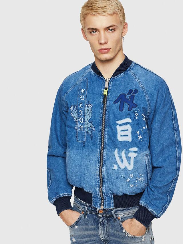 Diesel - D-BAK, Blue Jeans - Chaquetas de denim - Image 1