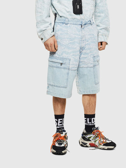 Diesel - D-LUK-SHORT, Azul Claro - Shorts - Image 1
