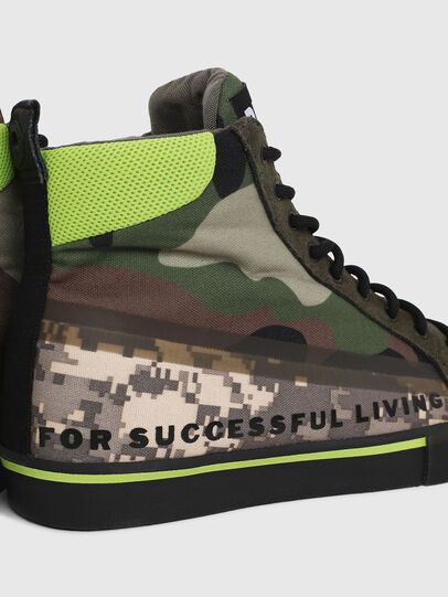 Diesel - S-DVELOWS MID, Verde Camuflaje - Sneakers - Image 4