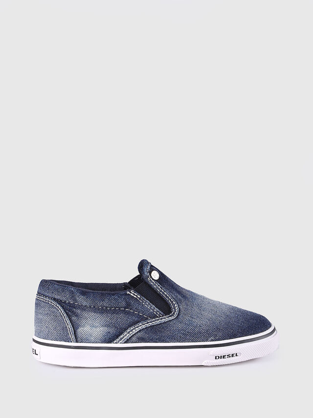 Diesel - SLIP ON 21 DENIM CH, Blue Jeans - Calzado - Image 1