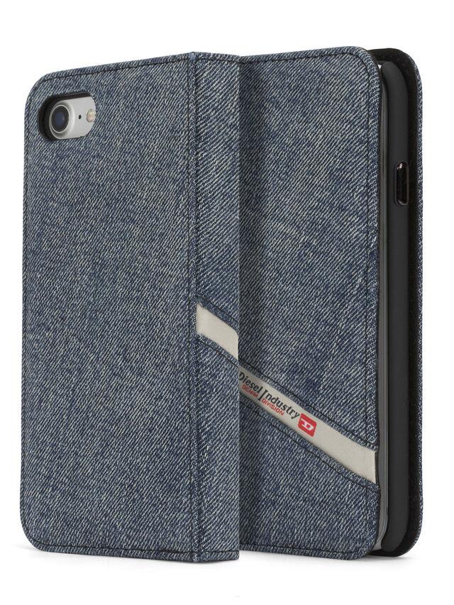 Diesel - DENIM IPHONE 8/7 FOLIO, Blue Jeans - Fundas tipo libro - Image 1