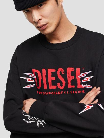 Diesel - CL-SNOR-LITMA, Negro - Sudaderas - Image 4