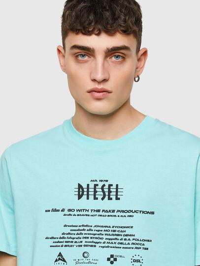 Diesel - T-JUST-E9, Azul Claro - Camisetas - Image 3
