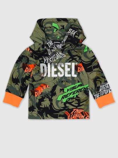 Diesel - TIRONDAB, Verde Militar - Camisetas y Tops - Image 1