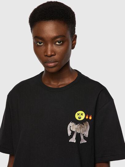 Diesel - T-BOYISH, Negro - Camisetas - Image 3