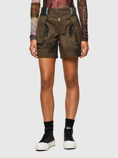 Diesel - S-JANE, Verde Militar - Shorts - Image 1