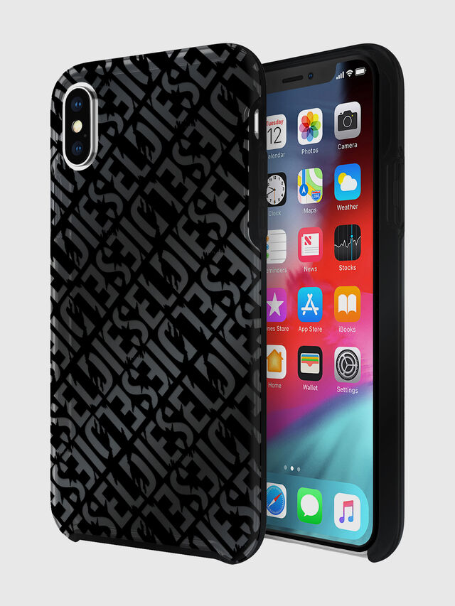 Diesel - DIESEL PRINTED CO-MOLD CASE FOR IPHONE XS & IPHONE X, Negro - Fundas - Image 1