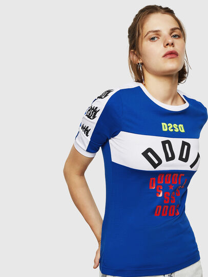 Diesel - T-HEIA-B, Azul Brillante - Camisetas - Image 1