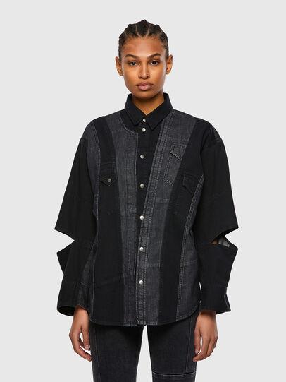 Diesel - DE-RINGLE, Negro - Camisas de Denim - Image 1