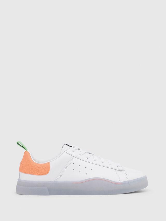 Diesel - S-CLEVER LOW, Blanco/Naranja - Sneakers - Image 1