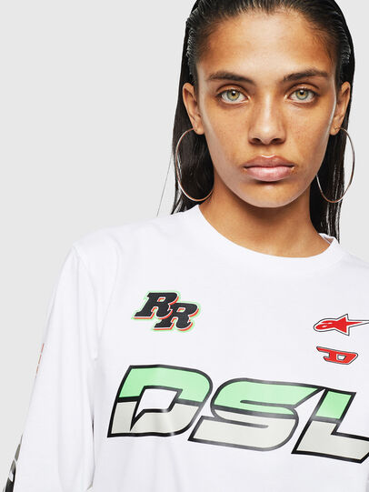 Diesel - ASTARS-T-JUST-LONG-F, Blanco - Camisetas - Image 3