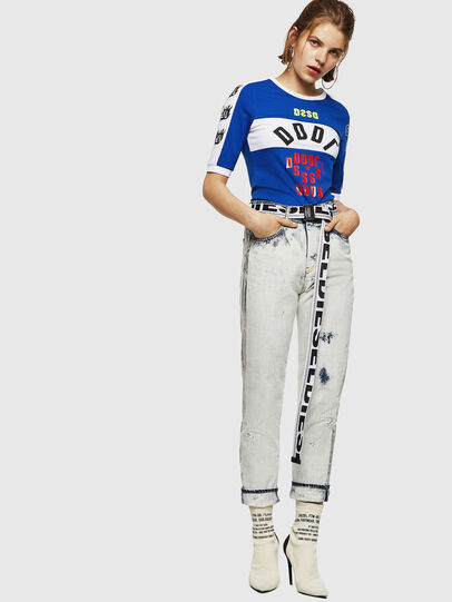 Diesel - T-HEIA-B, Azul Brillante - Camisetas - Image 5