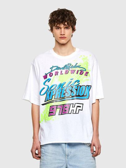 Diesel - T-DELPHONE, Blanco - Camisetas - Image 1