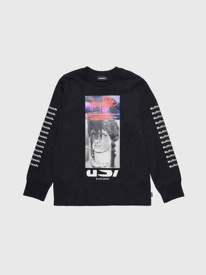 Diesel - TLARGEX, Negro - Camisetas y Tops - Image 1