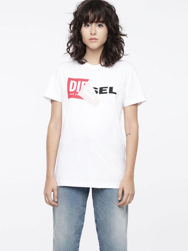 Diesel T-DIEGO-QA-FL, Blanco - Camisetas - Image 1