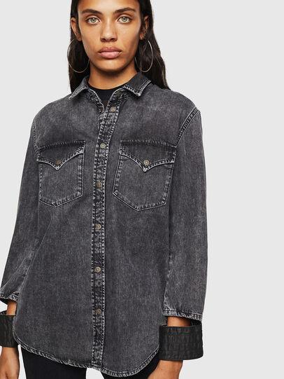 Diesel - DE-COLLY, Negro/Gris oscuro - Camisas de Denim - Image 1