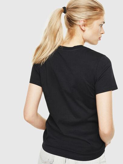 Diesel - T-SILY-WQ, Negro/Amarillo - Camisetas - Image 2