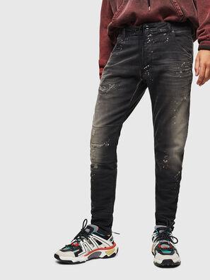 Krooley JoggJeans 084AE, Negro/Gris oscuro - Vaqueros
