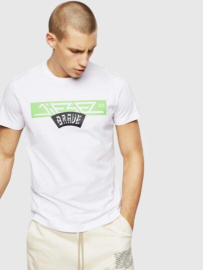 Diesel - T-DIEGO-A1, Blanco - Camisetas - Image 1