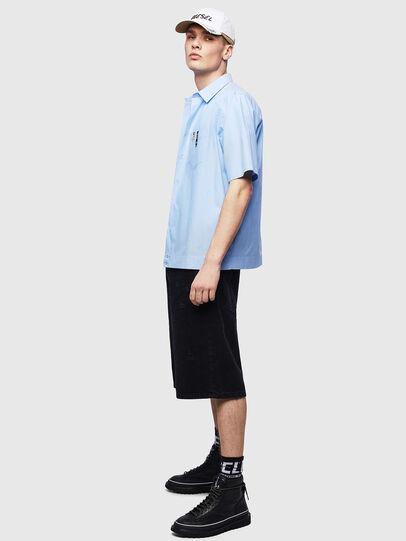 Diesel - S-FRY-FLUO, Azul Claro - Camisas - Image 5