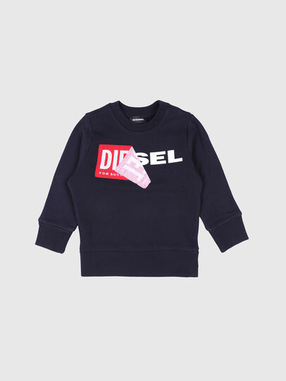 Diesel - SALLIB-R, Azul Marino - Sudaderas - Image 1