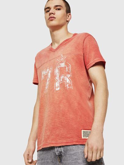 Diesel - T-DIEGO-V-CUT, Rojo Fuego - Camisetas - Image 1