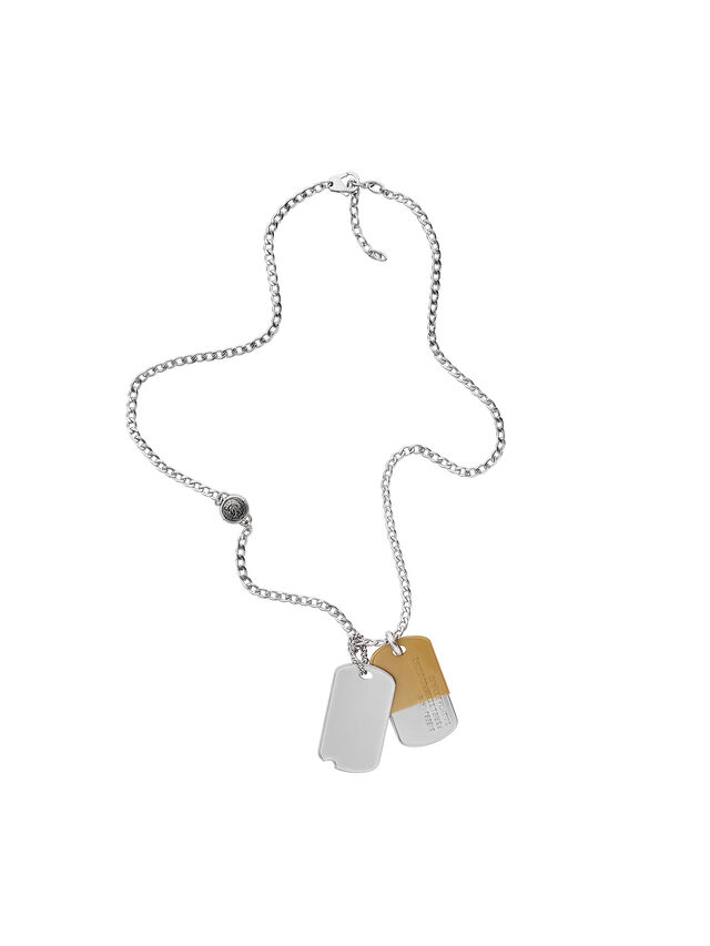 Diesel - NECKLACE DX1055, Plata - Collares - Image 1