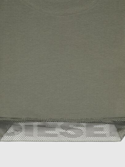 Diesel - UFTEE-GIORGMESH-SV, Verde Militar - Camisetas - Image 3