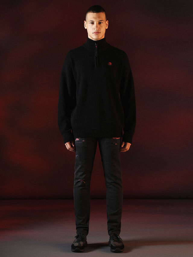 Diesel - DVL-KNIT-SPECIAL COLLECTION, Negro - Punto - Image 3