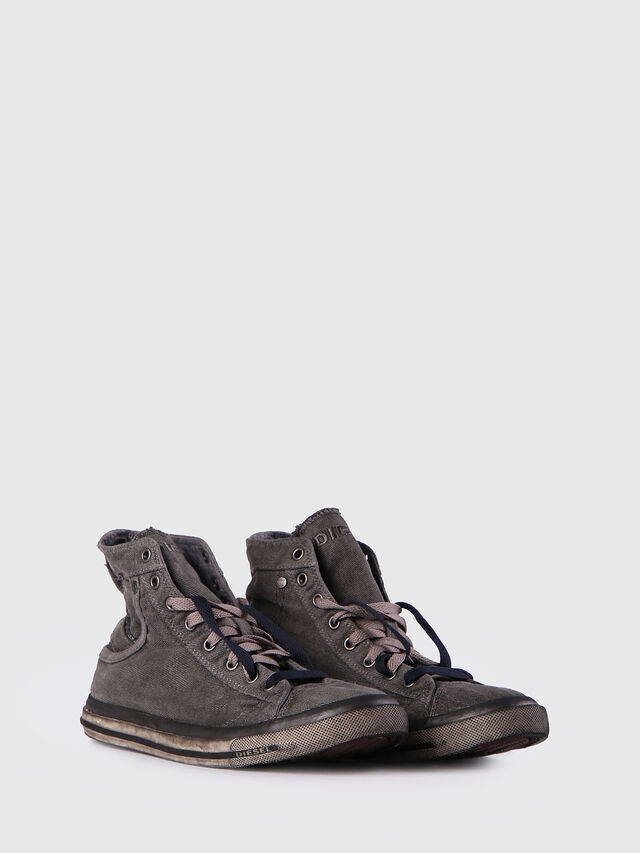 Diesel - EXPOSURE I, Gris Metal - Sneakers - Image 2