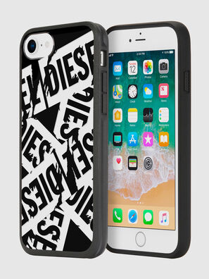 MULTI TAPE BLACK/WHITE IPHONE 8/7/6S/6 CASE, Negro - Fundas