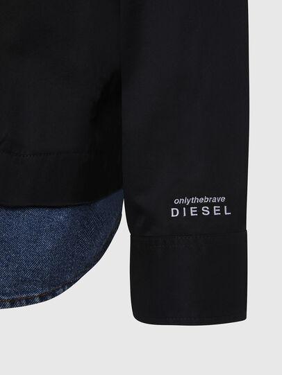 Diesel - S-DUSTIN, Negro - Camisas - Image 5