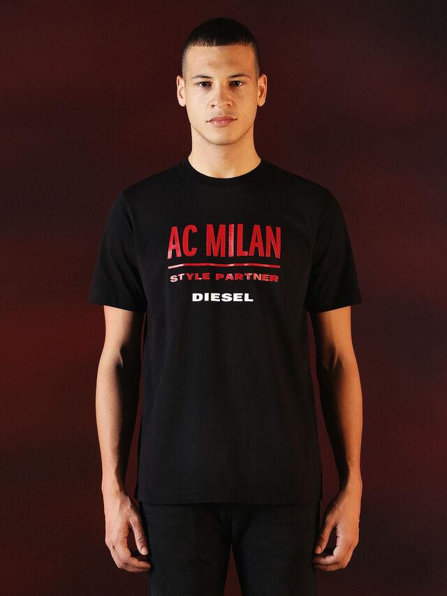 Diesel - DVL-TSHIRT-PRINT-SPECIAL COLLECTION, Negro - Camisetas - Image 2