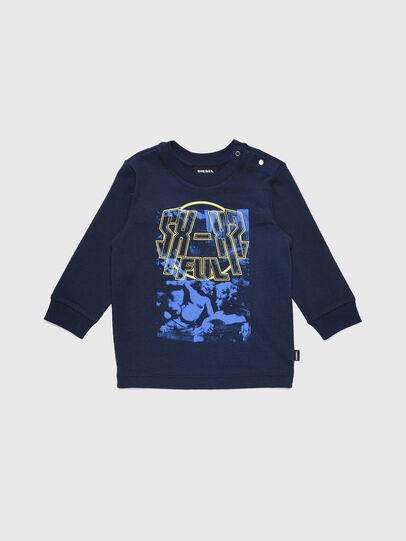 Diesel - TRAVEB, Azul Oscuro - Camisetas y Tops - Image 1