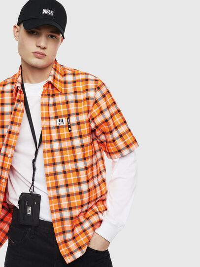 Diesel - S-ATWOOD-A, Naranja - Camisas - Image 4