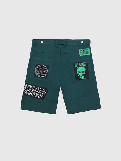 Diesel - P-DUGA-SHO, Verde Oscuro - Shorts - Image 2