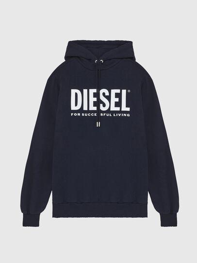 Diesel - S-GIR-HOOD-DIVISION-, Azul Oscuro - Sudaderas - Image 1